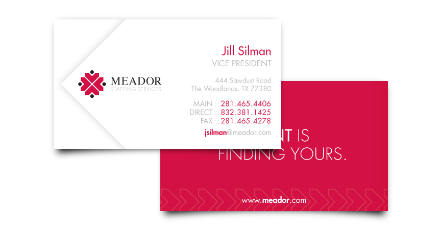 Meador Staffing Services Business Card