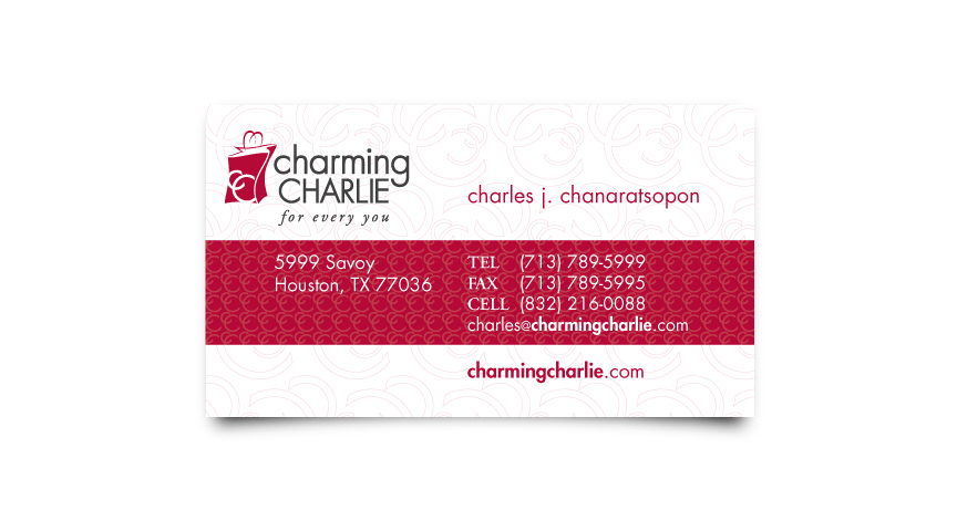 Charming Charlie Business Card