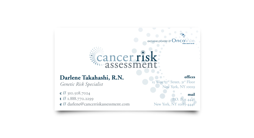 Cancer Risk Assessment Business Card